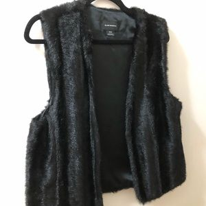 Club Monaco black faux fur vest